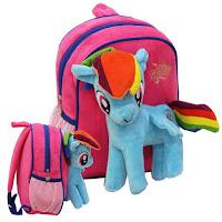 MLP Fake Rainbow Dash Plush Backpack