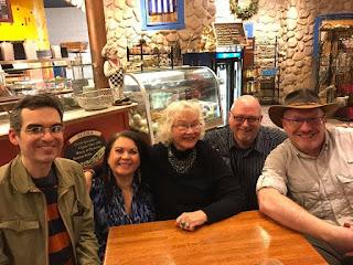 Trina Robbins (center) and friends