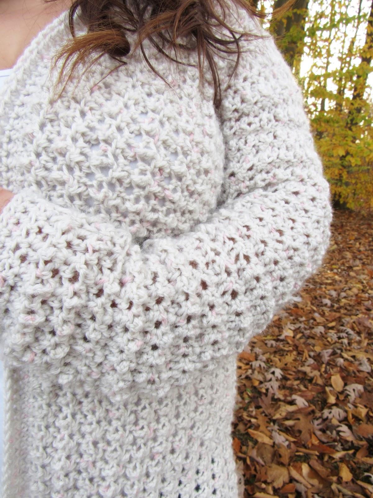 Comfy Cozy Oversized Crochet Cardigan Pattern Poppy Cardigan