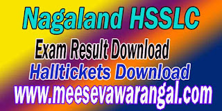Nagaland HSSLC Exam Results Download