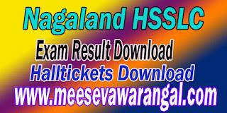Nagaland HSSLC Exam Results Download