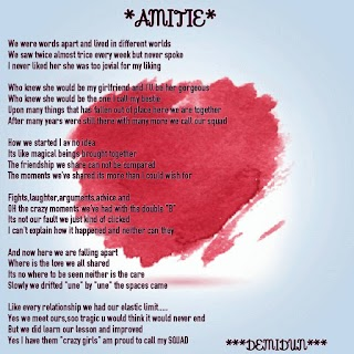 [LOVELY POEM] AMITIE