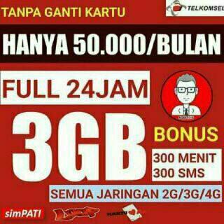 Jasa Aktivasi Paket Internet Combo 3gb Dapat Bonus 300 Menit Telpon Dan 300 SmS