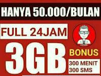 Jasa Aktivasi Paket Internet Combo 3gb Dapat Bonus 300 Menit Telpon Dan 300 SmS Tiap Bulan