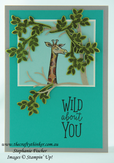 #thecraftythinker #animalouting #stampinup  #cardmaking  #rubberstamping  #fathersdaycard  #giraffecard , Fathers' Day card, Animal Outing, Giraffe card, Stampin' Up Australia Demonstrator, Stephanie Fischer, Sydney NSW