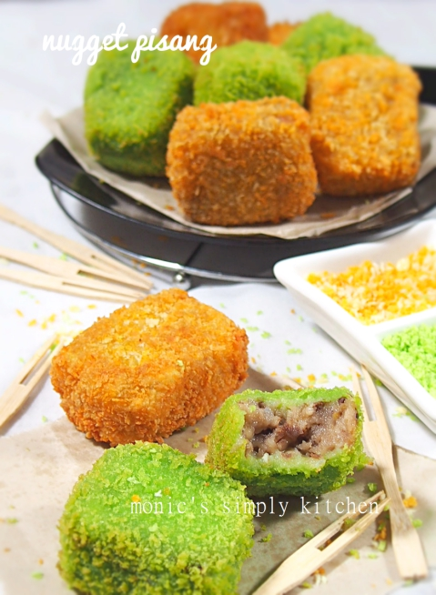 nugget pisang coklat keju monics simply kitchen