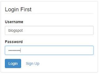 contoh sign-in dengan account yang telah dibuat