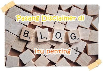 cara membuat laman disclaimer blog