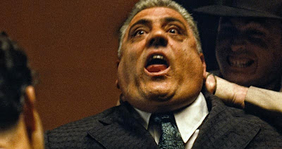 Lenny Montana as Luca Brasi, Luca Brasi choked to death by Sollozzo's men, directed by francis ford coppola