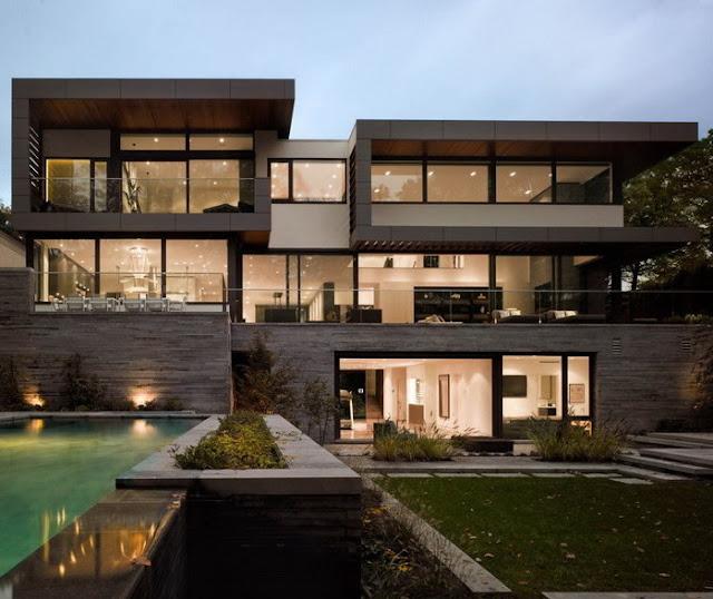 beda tinggi pada desain rumah minimalis