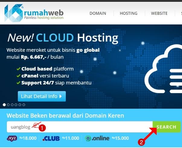 Cara Membeli Domain .com untuk Mengganti Domain Blogspot