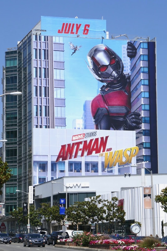 Giant AntMan and Wasp movie billboard