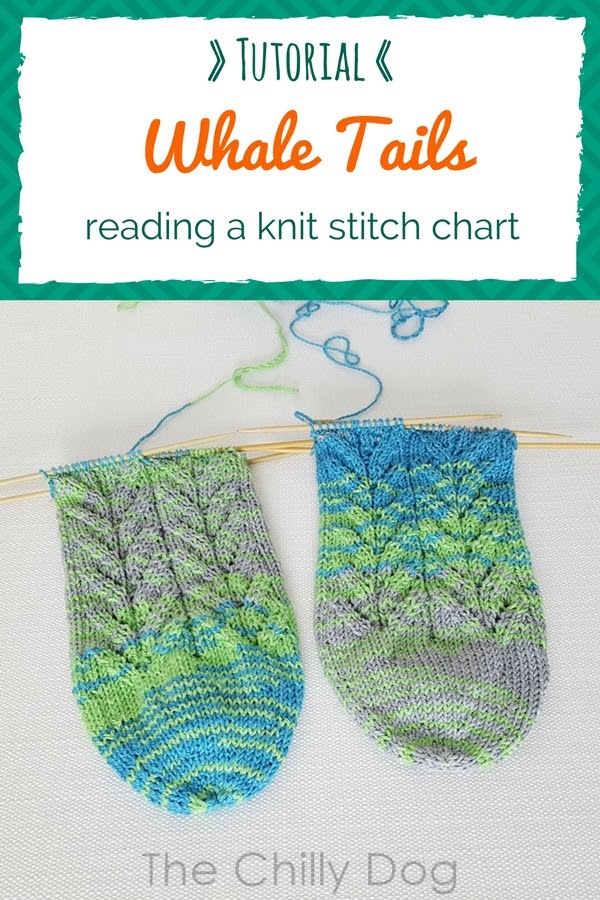Whale Done Socks KAL Tutorial: How to read a knitting stitch chart