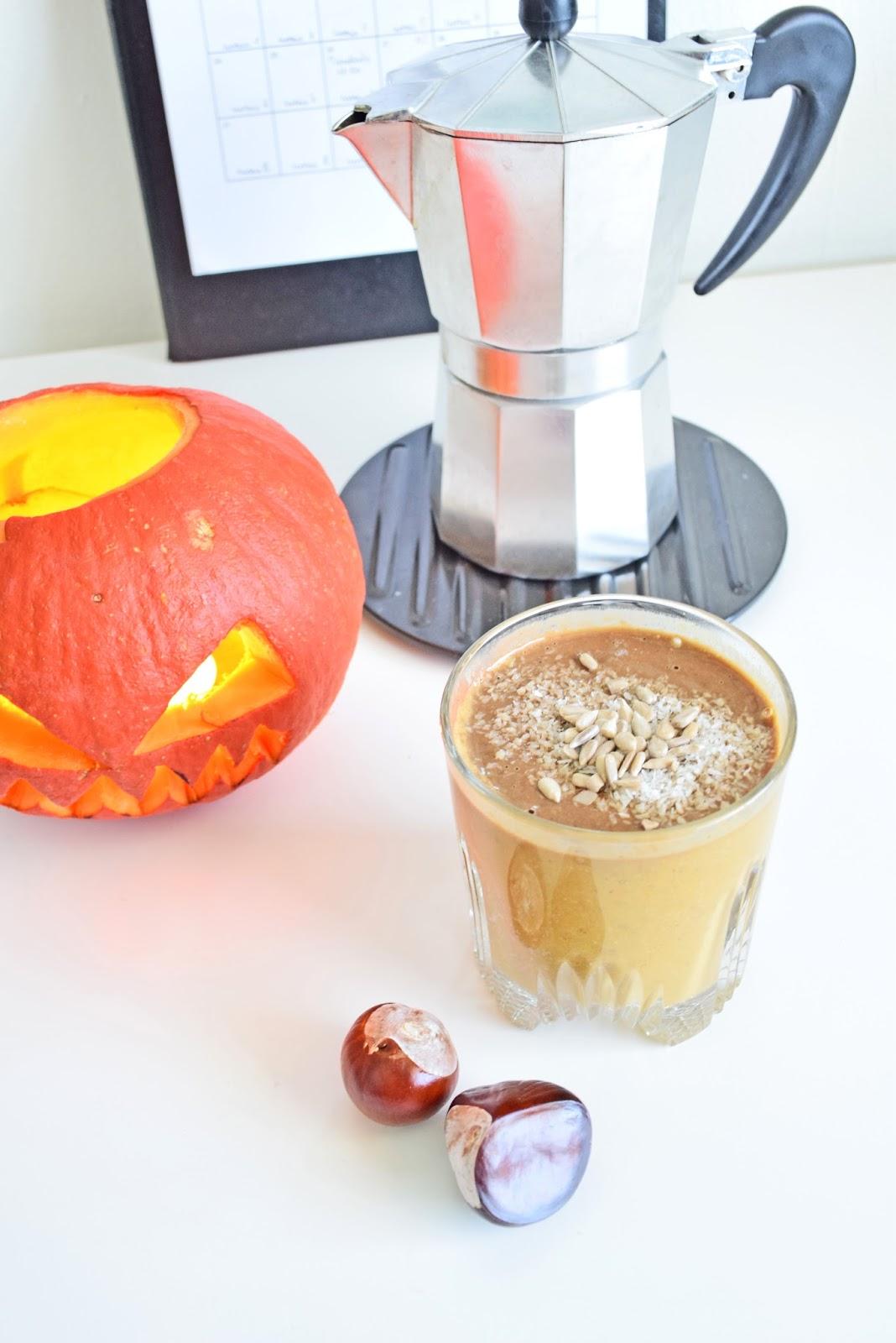 Kawa latte z dynią