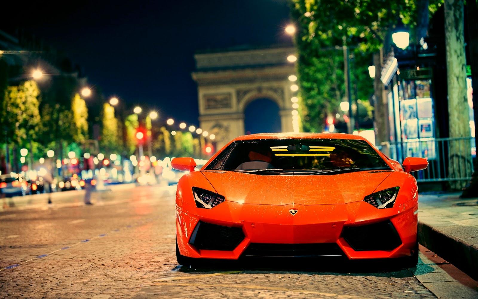 Hot Orange Lamborghini parking Wallpaper   Car Wallpaper ...