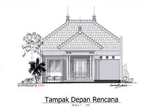 gambar sketsa tampak depan rumah minimalis 2