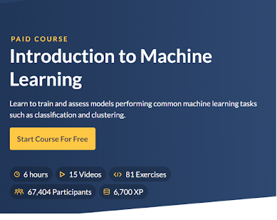 best course to learn machine learning in datacamp