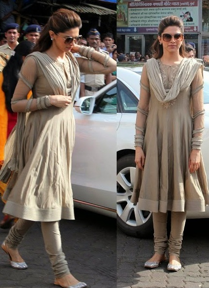 Dress no. 21 - Deepika in Grey Salwar Suit