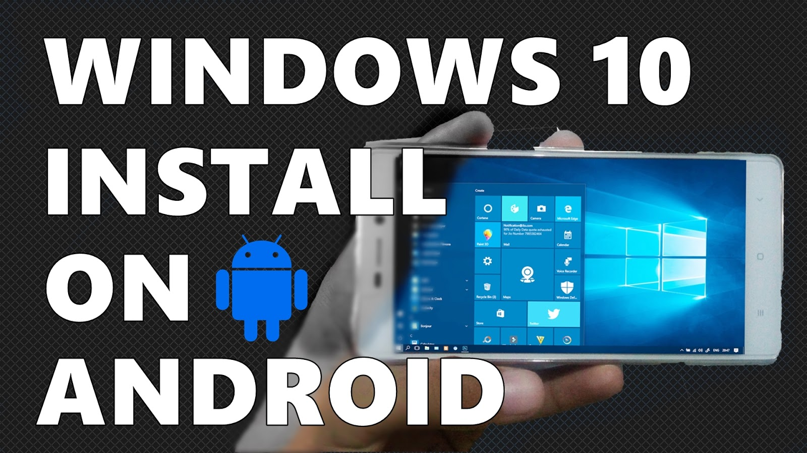 Windows  img file for Android - Oye Be Smartest