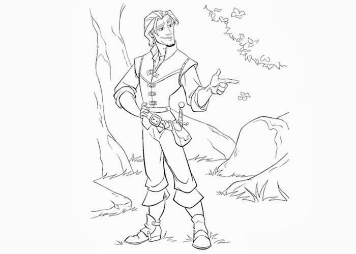 Flynn Rider coloring pages | Free Coloring Pages and ...