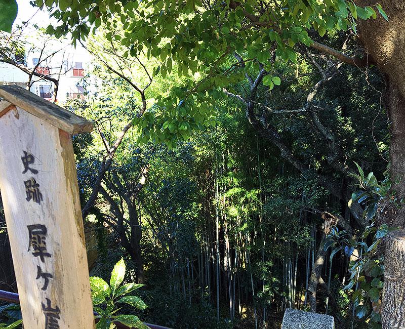 布橋の計略を武田に仕掛けたと伝わる犀ヶ崖