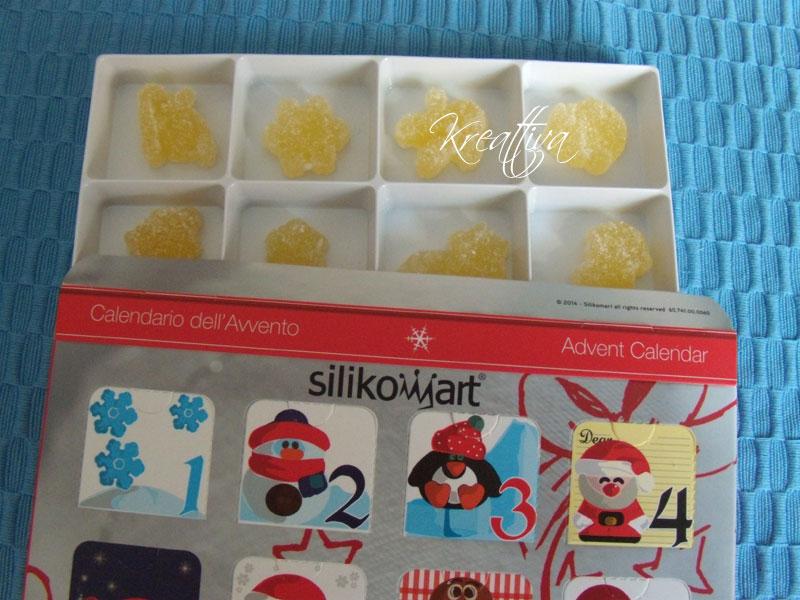 Calendario avvento con caramelle geleè
