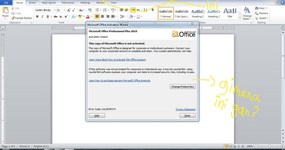 Cara Mengatasi Product Activation Failed Pada Office 2013