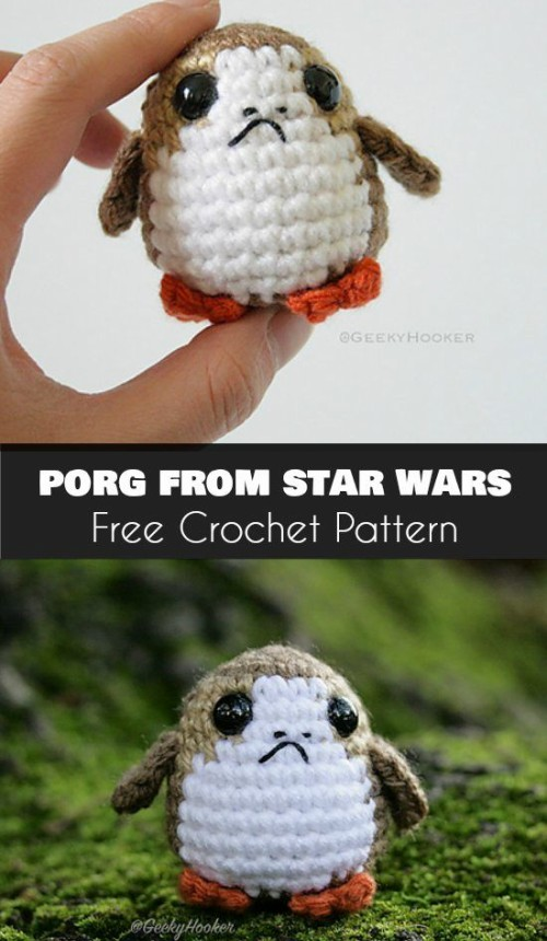 Porg from Star Wars - Free Pattern