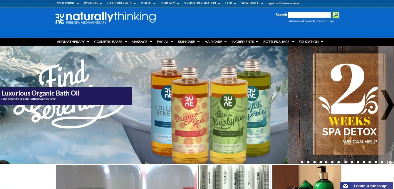 Naturally Thinking Retail Website