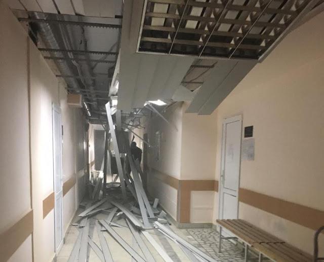 В Уфимской больнице произошёл хлопок: обрушился потолок