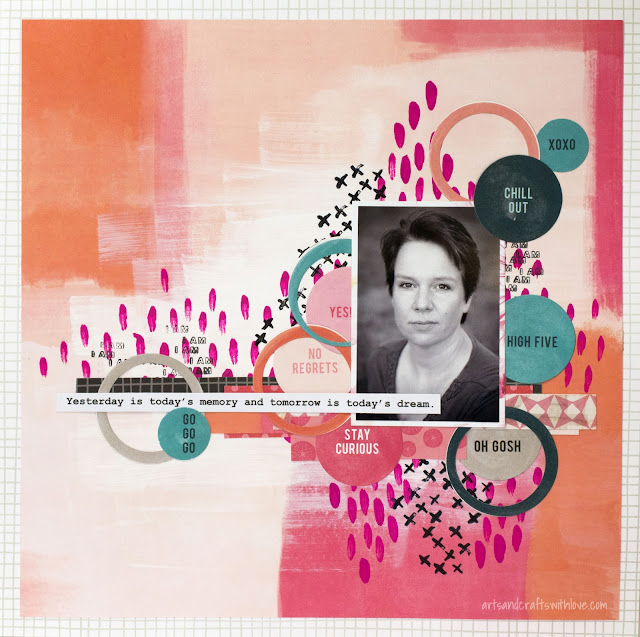 Scrapbooking layout with Cocoa Daisy kit: Tomorrow's dream
