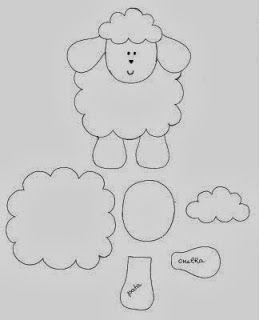 Todo tipo de manualidades con ovejitas en foami