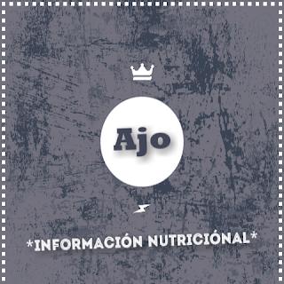 ajo informacion nutricional nutrientes propiedades