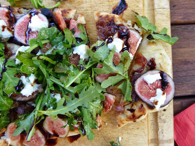 grilled flatbread with figs