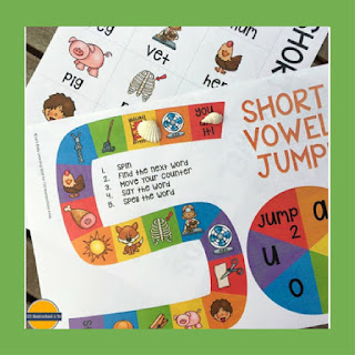 short vowel jump board game