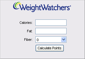 POINTS WEIGHT WATCHERS