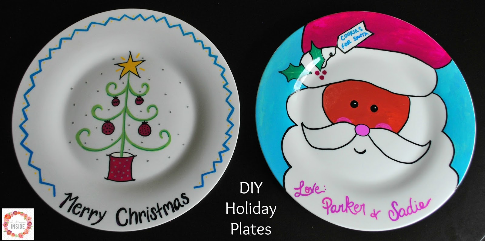 diy holiday plates a glimpse inside