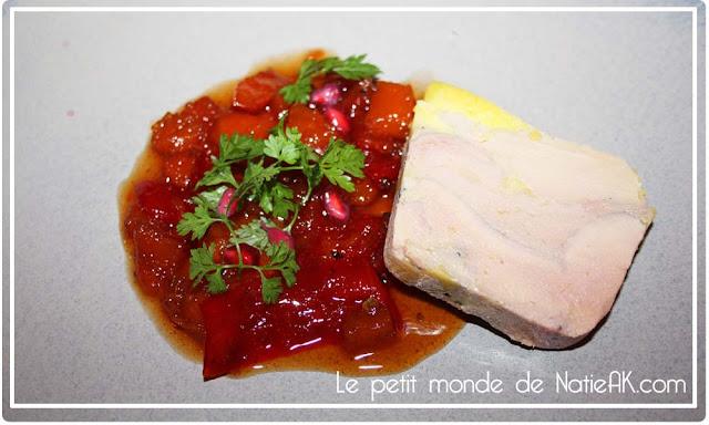 Foie gras mi-cuit et chutney de potiron
