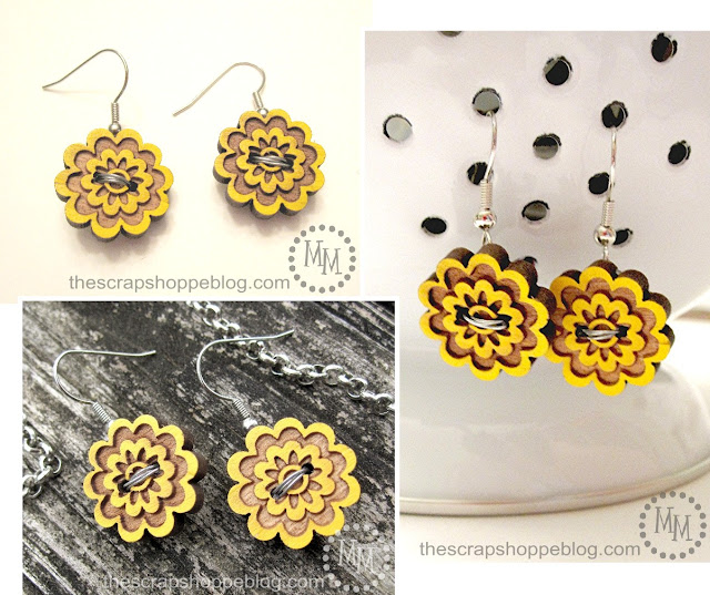 floral button earrings tutorial