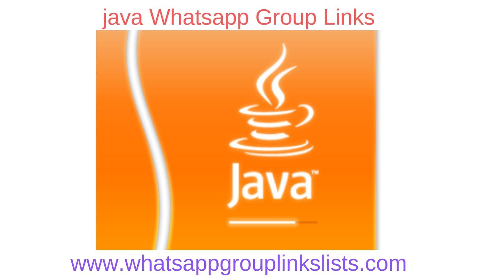 Join Java Whatsapp Group Links List