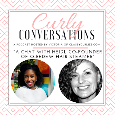 A chat with the creator of the Q-Redew handheld hair steamer - ClassyCurlies