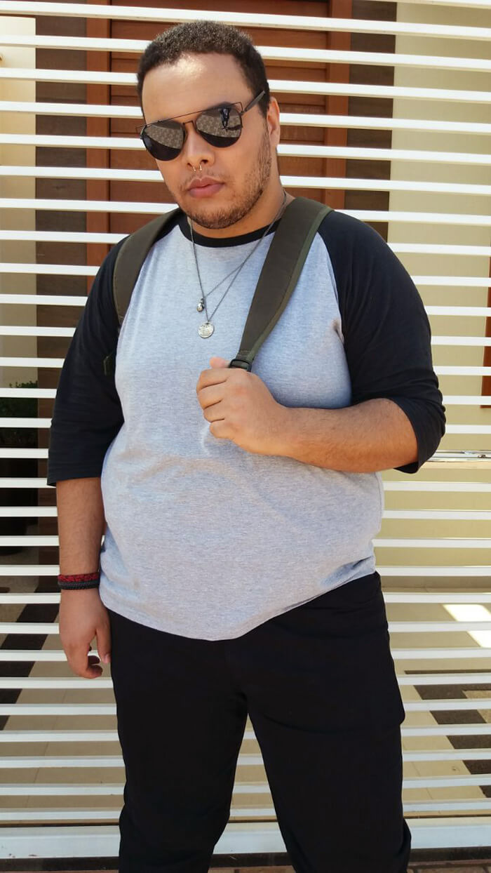 look plus size masculino