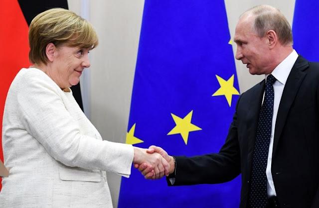 اعتراف ميركل بان المانيا تساند روسيا في سوريا بشفافية وتحفظ وسرية تامة