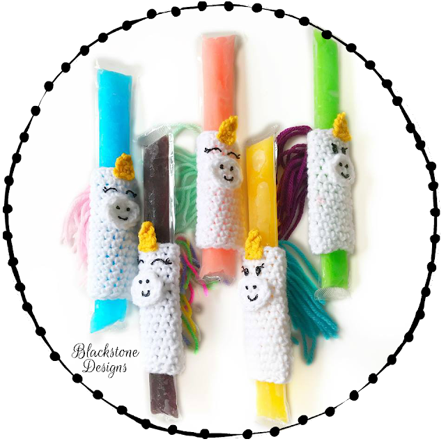 Unicorn Popsicle Holders crochet pattern
