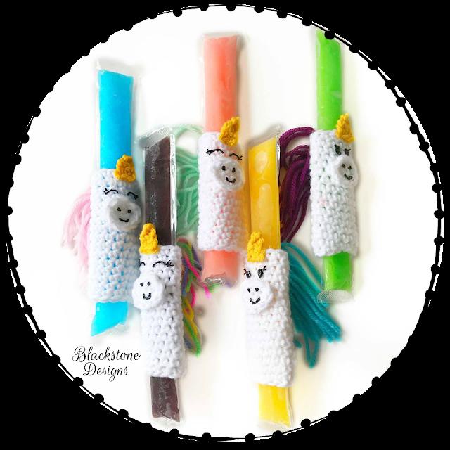 Unicorn Popsicle Holders crochet pattern