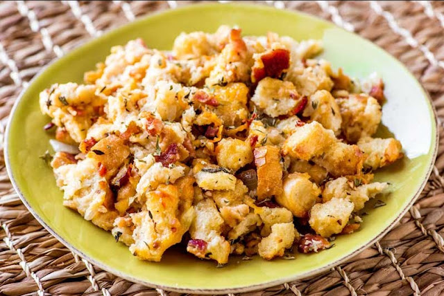BACON BEER CHEESE STUFFING
