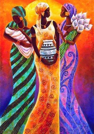 Irmãs  ao Sol - Keith Mallett e suas pinturas cheias de charme
