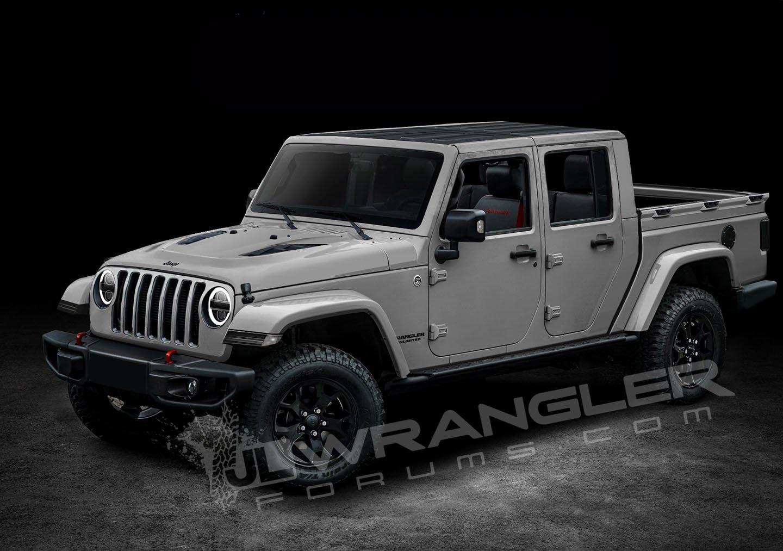 2019 Jeep Wrangler Pickup Looks Scrambler-rific In Latest ...
