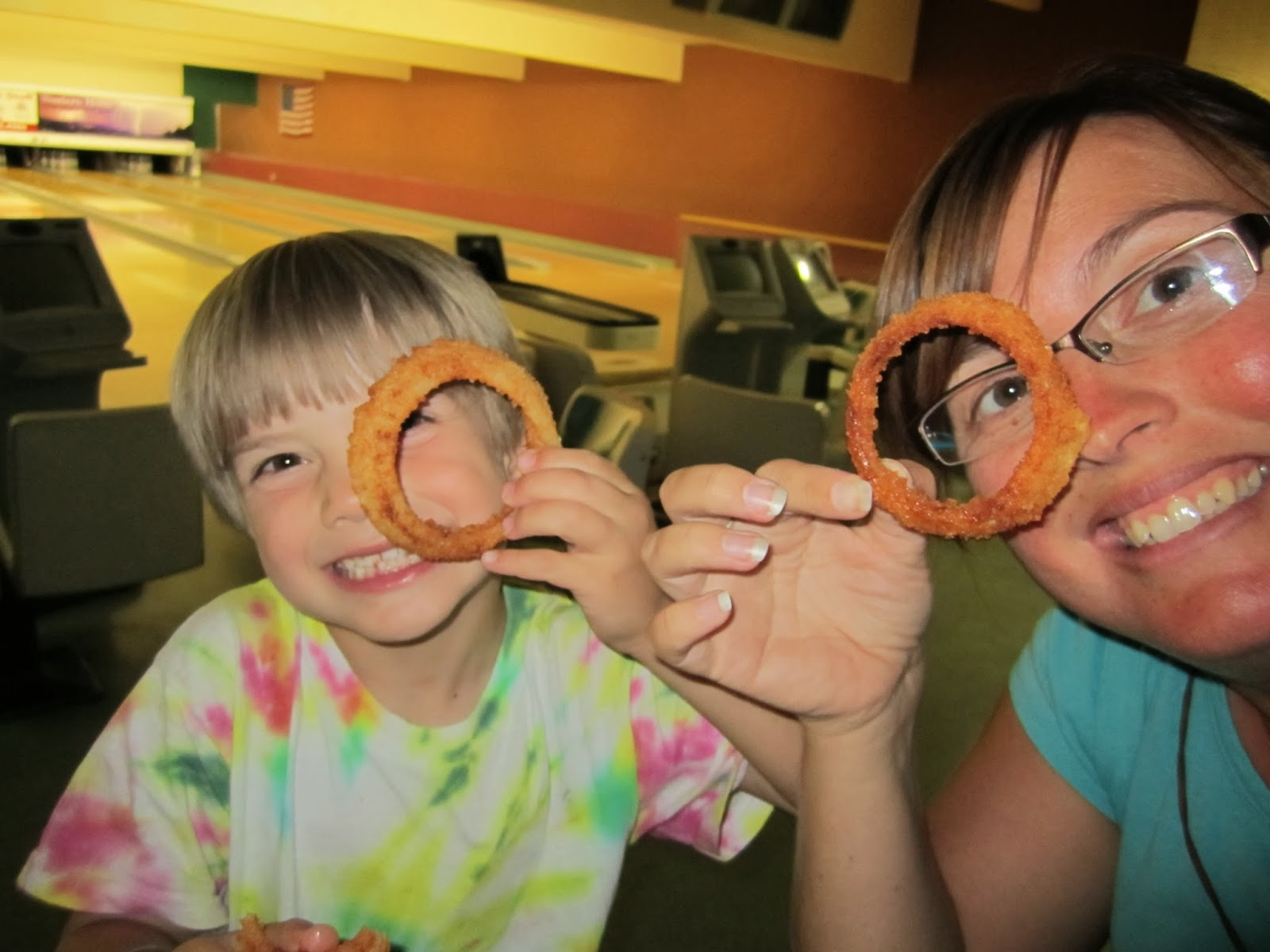 smiles, onion rings,