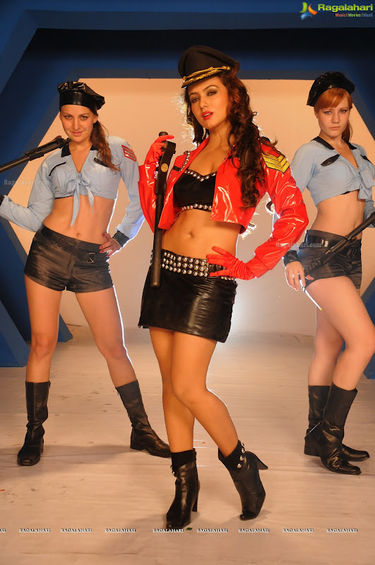 SANA KHAN sizzling in air hostess dress